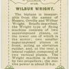 Wilbur Wright.  Biplane.