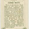James Watt.  Steam engine.