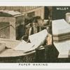 Paper making.