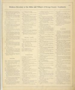 Business Directory of The Cities and Villages of Orange County, New York. [cont.]