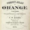 County atlas of Orange, New York
