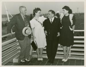 Alaskan women with Fiorello LaGuardia on Alaska Day