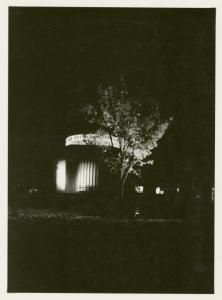 Administration Building - Night with tree