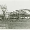 Administration Building - Construction - Cafeteria wing and main entrance looking East