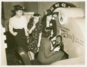 Aetna Exhibit - Woman driving Steerometer