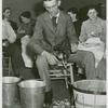 American Common - Barn Dance - Man peeling apples