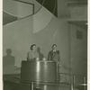 American Telephone & Telegraph Exhibit - Man and woman demonstrate
