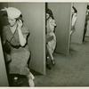American Telephone & Telegraph Exhibit - Women taking hearing tests