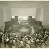 American Telephone & Telegraph Exhibit - Courtyard display with crowd