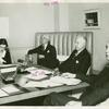 American Telephone & Telegraph Exhibit - Walter Gifford, Stephen Voorhees and Thomas Donovan in Board of Director's Room