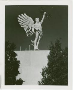 American Telephone & Telegraph Exhibit - Building - Close-up of statue