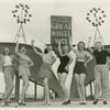 Amusements - American Jubilee - Performers - Chorus girls in front of Great White Way sign