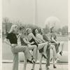 Amusements - American Jubilee - Performers - Chorus girls pose in front of pool at Constitution Hall