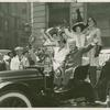 Amusements - American Jubilee - Performers - Harvey Gibson with cast members in antique car