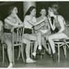 Amusements - American Jubilee - Performers - Chorus girls with cigarette
