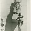 Amusements - American Jubilee - Performers - Christie, Irene - Beneath statue of Peace