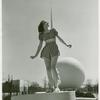 Amusements - American Jubilee - Performers - Christie, Irene - In front of Trylon and Perisphere