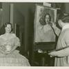 Amusements - American Jubilee - Performers - Monroe, Lucy - Having portrait painted