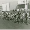 Amusements - American Jubilee - Scenes - Bicycle Number - Girls on bicycle during rehearsal