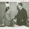 Amusements - Aquacade - Billy Rose and Grover Whalen shaking hands