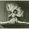 Amusements - Dance - Girl doing split with fan