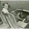 Amusements - Games and Rides - Girl in paddle boat