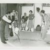 Amusements - Midway Activities - Man and woman in joke photography studio