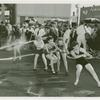 Amusements - Midway Activities - Girls in tug of war