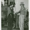 Amusements - Midway Activities - Uncle Sam - Shaking hands with Abraham Lincoln