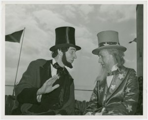 Amusements - Midway Activities - Uncle Sam - Talking to Abraham Lincoln