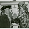 Amusements - Midway Activities - Uncle Sam - Standing with George Washington