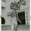 Amusements - Midway Activities - Uncle Sam - Coming out of Federal Building