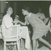 Amusements - Performers and Personalities - Irene Castle with girl at Brazilian Restaurant