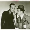 Amusements - Performers and Personalities - Bud Abbott and Lou Costello smoking