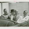 Amusements - Performers and Personalities - Bergen, Edgar - In car with Charlie McCarthy, Grover Whalen and Fiorello LaGuardia