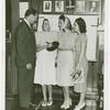 Amusements - Performers and Personalities - Musicians - Andrews Sisters - Signing record with Jack Dempsey