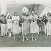 Amusements - Performers and Personalities - Musicians - Andrews Sisters - With marching band