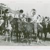 Amusements - Performers and Personalities - Robinson, Bill - Inducted as cowboy with Colonel Zack Miller and Ruth Mix