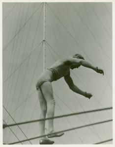 Amusements - Shows and Attractions - Aerial Acts and Airshows - Acrobat on tightrope