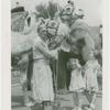 Amusements - Shows and Attractions - Frank Buck's Jungleland - Camels and elephant with man and girls