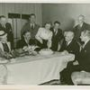Amusements - Shows and Attractions - Frank Buck's Jungleland - Frank Buck, Betty and Benny Fox, Harvey Gibson and others eating at Terrace Club