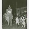 Amusements - Shows and Attractions - Frank Buck's Jungleland - Elephants - Frank Buck riding