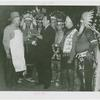 Amusements - Shows and Attractions - Wild West - Grover Whalen with Indians and man in apron
