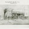 Amusements - Villages - Old New York - Sketch of horseshoeing shop
