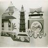Art - Murals - Home Building Center, Cambodian Architecture (Louis Bouche, Allen Saalburg, Everett Henry)