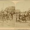 Heroic Sports of the Kraal -- a Zulu War Dance, near the Umlaloose River, Zululand, S. A.