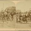 Heroic Sports of the Kraal -- a Zulu War Dance, near the Umlaloose River, Zululand, S. A.