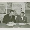Argentina Pavilion - Grover Whalen and Conrado Traverso signing contract