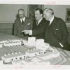 Argentina Pavilion - Grover Whalen and others looking at pavilion model