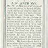 J.R. Anthony, Mr. W. H. Midwood's colours.